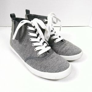 H&M Grey & White Lace Up Pull On Sneakers